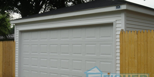2 Car Garage with Hip Roof by Fisher Garages