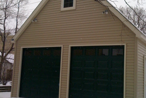 2.5 Car Garage with Gable Roof and Loft by Fisher Garages