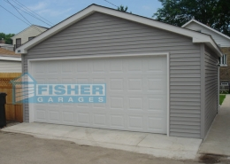 2.5 Car Garage with Gable Roof by Fisher Garages