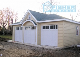 3 Car Garage with Hip and Gable Roof by Fisher Garages
