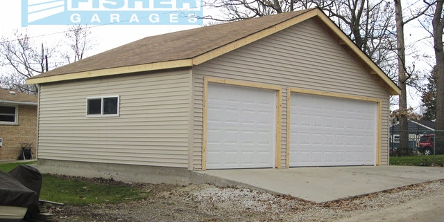 3.5 Car Garage with Gable Roof by Fisher Garages