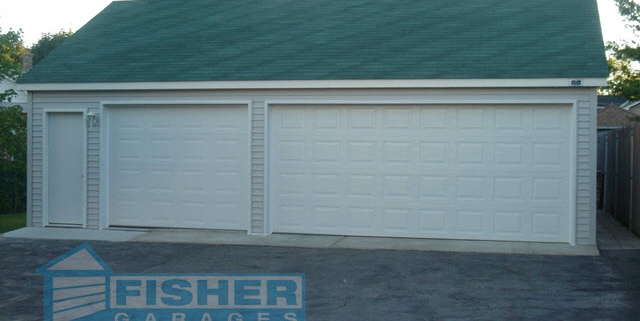 3.5 Car Garage with Reverse Gable Roof by Fisher Garages